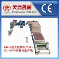 WJ-3 типа пластик хлопок + ZJ-1000 производственных линий иглоукалывание хлопка